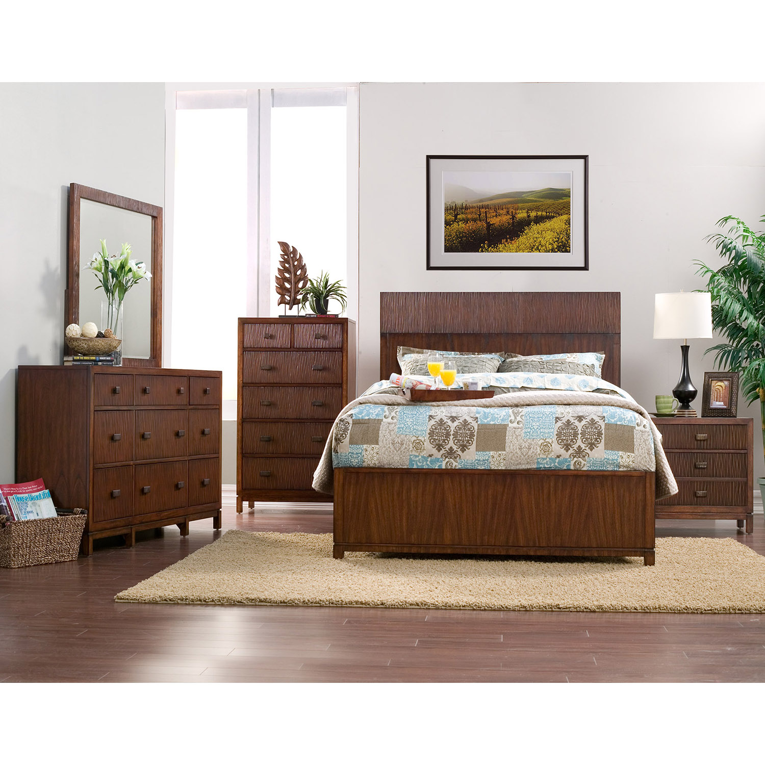 Loft 9 Drawers Dresser - Dark Walnut - ALP-ORI-711-03