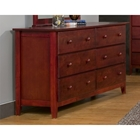 Portola 6 Drawers Dresser - Light Cherry