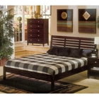 Portola Queen Platform Bed - Dark Cherry