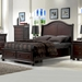 Hyde Park Storage Bed - Merlot - AW-1310-SB-BED