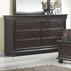 Hyde Park 6-Drawer Dresser - Merlot