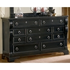 Heirloom Elegant Dresser in Black