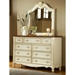 Chateau Antique White Dresser and Mirror Set - AW-3501-290-3501-040