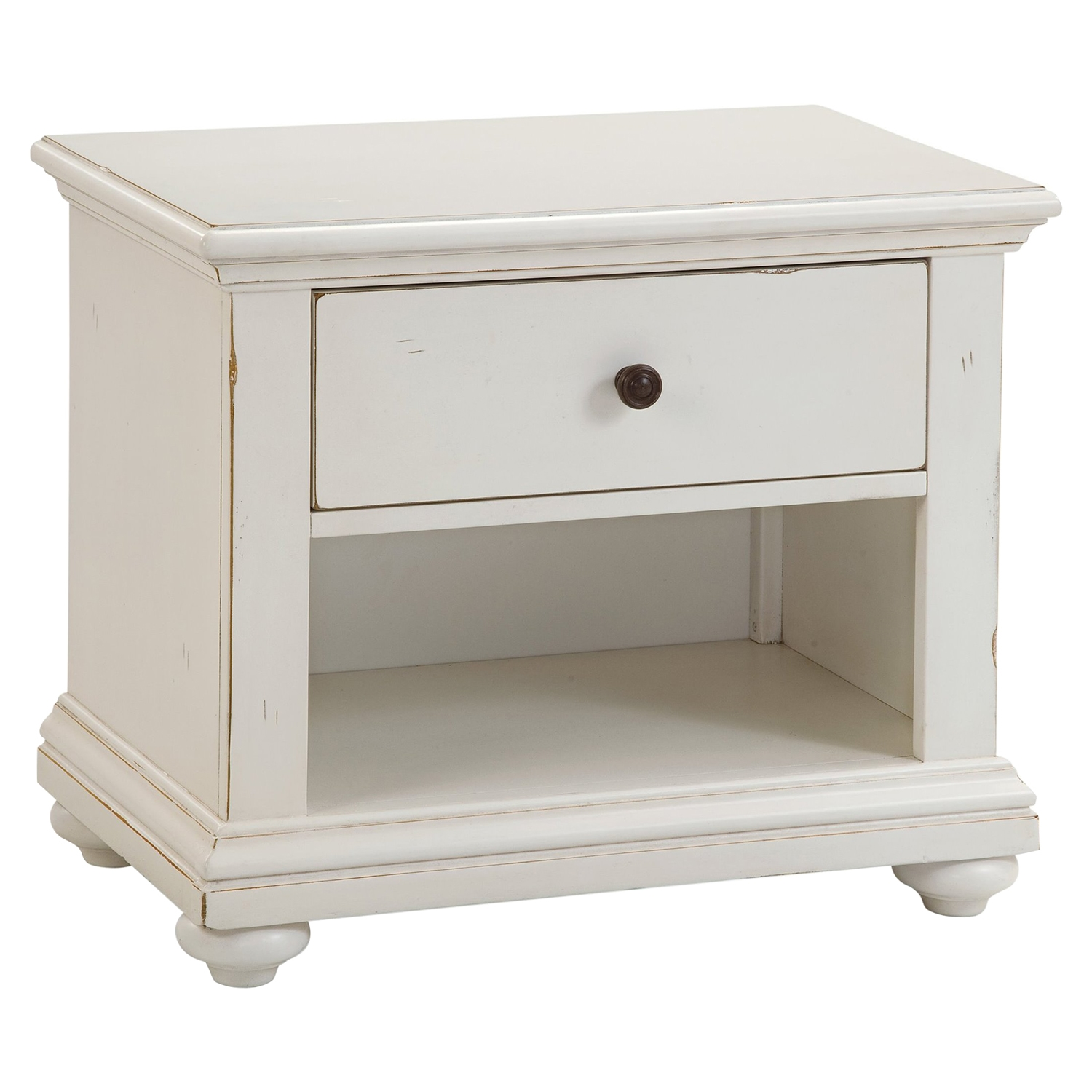 Pathways 2-Drawer Nightstand - Antique White - AW-5110-410