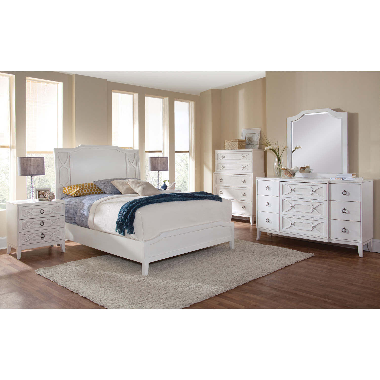 Grand Haven 9-Drawer Dresser - White Lace - AW-6410-290