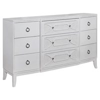 Grand Haven 9-Drawer Dresser - White Lace