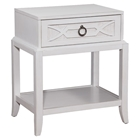 Grand Haven Single Drawer Night Table - White Lace