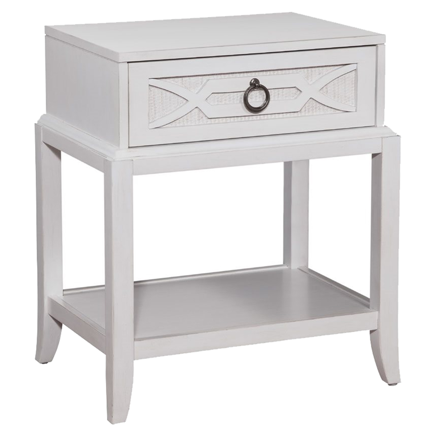Grand Haven Single Drawer Night Table - White Lace - AW-6410-410