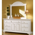 Cottage Traditions 7-Drawer Dresser and Mirror Set in Eggshell White