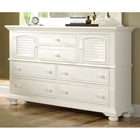 Cottage Traditions High Dresser with 6 Drawers in White