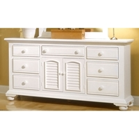 Cottage Traditions Triple Dresser in Eggshell White