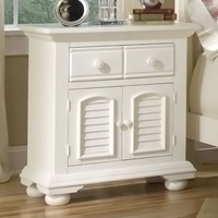 Cottage Traditions Large Nightstand in Eggshell White