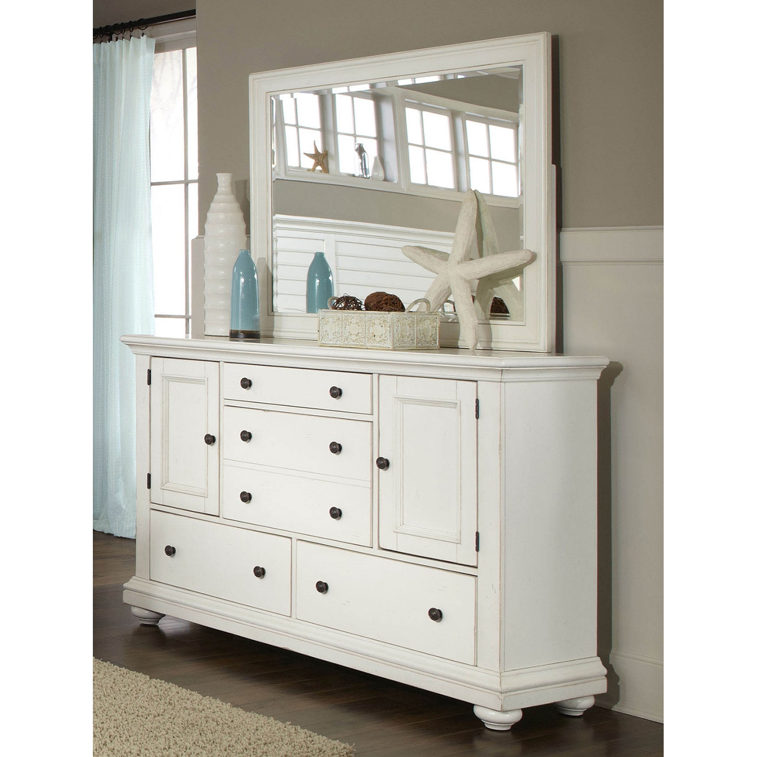 Pathways Dresser in Antique White - AW-5110-252