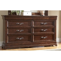 Signature Triple Dresser in Rich Dark Brown