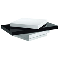 Orca Coffee Table in High Gloss Black and White
