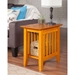 Mission Chair Side Table - 1 Shelf - ATL-AH1320