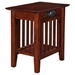 Mission Chair Side Table - Charger, 1 Shelf - ATL-AH1321