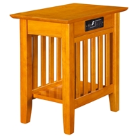 Mission Chair Side Table - Charger, 1 Shelf
