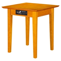 Shaker End Table - Square, Charging Station