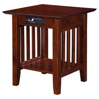 Mission End Table - Charger, 1 Shelf