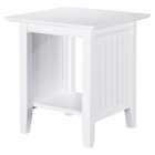 Nantucket End Table - Rectangular, 1 Shelf