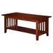 Mission Coffee Table - 1 Shelf - ATL-AH1520