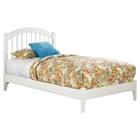 Windsor Open Foot Bed - Platform, White