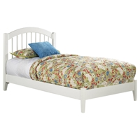 Windsor Wood Bed - Platform, White