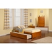 Concord Wood Bed - Flat Panel Foot Board, Urban Trundle - ATL-AR80-201