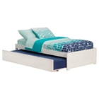 Concord Wood Bed - Flat Panel Foot Board, Urban Trundle