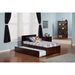 Orlando Platform Bed - Flat Panel Foot Board, Urban Trundle - ATL-AR81-201