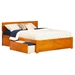 Orlando King Bed - Flat Panel Foot Board, 2 Urban Bed Drawers - ATL-AR815211