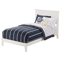 Nantucket Wood Bed - Platform, White
