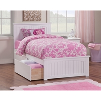 Nantucket Wood Bed - Matching Foot Board, 2 Drawers