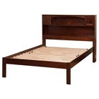 Newport Open Foot Bed - Platform, Bookcase Headboard