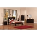 Newport Full Platform Bed - Bookcase Headboard - ATL-AR853103