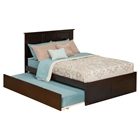 Madison Flat Panel Foot Board Bed - Trundle Bed, Platform