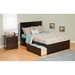 Madison Flat Panel Foot Board Bed - 2 Drawers, Platform - ATL-AR86-211
