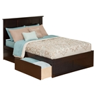 Madison Flat Panel Foot Board Bed - 2 Drawers, Platform