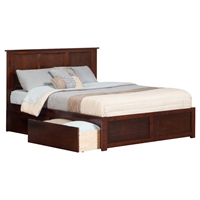 Madison King Flat Panel Foot Board Bed - 2 Drawers, Platform
