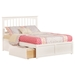 Mission Platform Bed - 2 Urban Bed Drawers, Flat Panel Foot Board - ATL-AR87-211