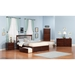 Mission King Platform Bed - 2 Urban Bed Drawers, Flat Panel Foot Board - ATL-AR875211