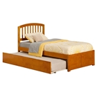 Richmond Platform Bed - Flat Panel Foot Board, Urban Trundle