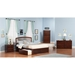 Richmond King Platform Bed - Flat Panel Foot Board, 2 Urban Bed Drawers - ATL-AR885211