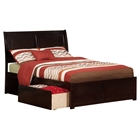 Portland Flat Panel Foot Board Bed - 2 Drawers, Platform