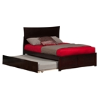 Metro Flat Panel Foot Board Bed - Trundle Bed, Platform