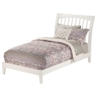 Orleans Wood Bed - White