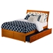 Orleans Full Wood Bed - Flat Panel Foot Board, Urban Trundle Bed - ATL-AR923201
