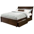 Bordeaux Platform Bed w/ Flat Panel Footboard and Raised Panel Drawers