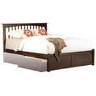 Brooklyn Platform Bed w/ Flat Panel Footboard